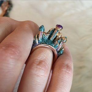 Disney The Little Mermaid Glitter Castle Ring